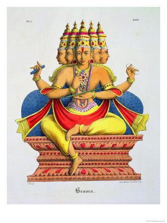 Brahma, primero de los Devas y Hacedor del Universo