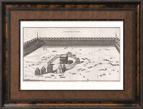 """""""Vista de La Meca - Kaaba"""" - Grabado de Picart; 1737 - Galería Napoleón"""